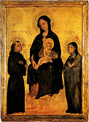 Madonna in Glory between Saint Francis and Saint Clare