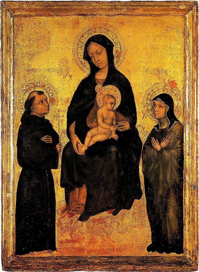 Madonna col Bambino in gloria tra i santi Francesco e Chiara