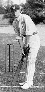 Geoffrey Foster English cricketer
