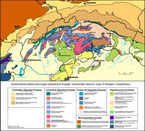 Western Carpathians - Geological map of Western Carpathians