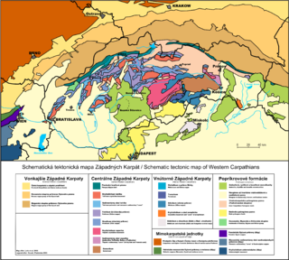 Pieniny Klippen Belt Zone in the Western Carpathians, with a very complex geological structure