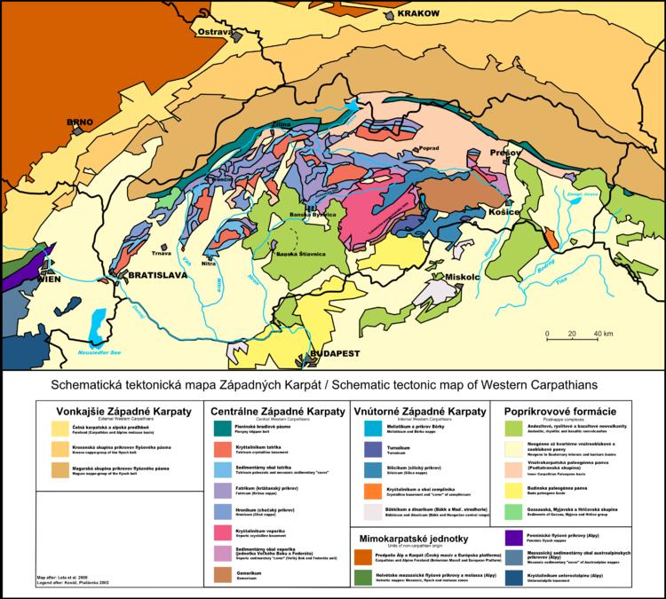 Worksheet. Geology of the Western Carpathians  Wikipedia