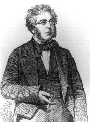 George Parker Bidder - George Parker Bidder, drawn in the Illustrated London News of March 1856