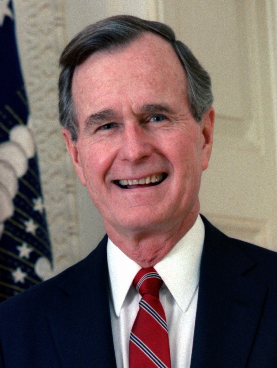 George H. W. Bush, President of the United States, 1989 official portrait (cropped 2)