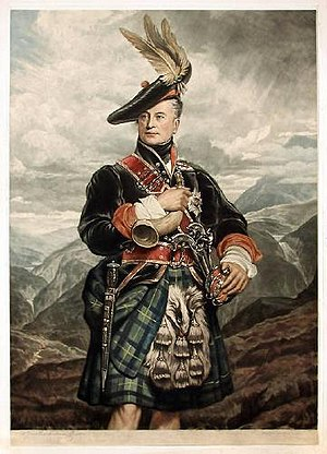 George Gordon, 5th Duke of Gordon - The Duke depicted in highland dress by George Sanders, now in Goodwood House