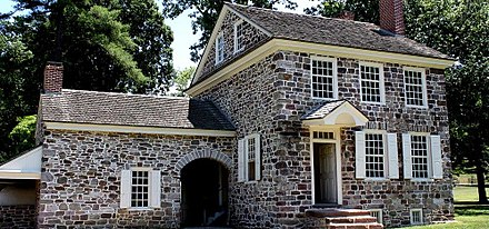 From December 1777 to June 1778, Washington made his headquarters in a business residence owned by Isaac Potts