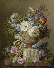 Flower Still-life with an Alabaster Vase
