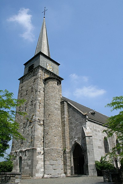 Gerpinnes   (Belgium), the St. Michel and Rolende church (XVIth century).