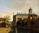 Gerrit Berckheyde - View of the Nieuwezijds Voorburgwal with the Amsterdam City Hall.jpg