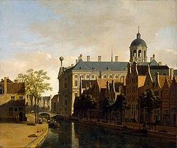 Gerrit Adriaenszoon Berckheyde: View of the Ratshuis in Amsterdam