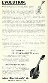 1914 advertisement for Gibson mandolin