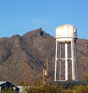 Gila Crossing, Arizona - Image: Gila Crossing AZ water tower