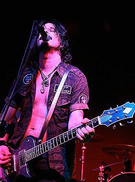 Gilby Clarke replaced Izzy Stradlin as rhythm guitarist, playing from 1991 to 1994. Gilby Clarke.JPG