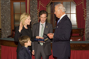 Kirsten Gillibrand - Gillibrand is sworn in for her second term by Vice President Biden (2011)