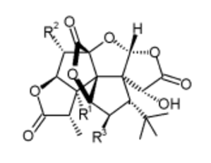 Ginkgolide - Chemical structure of ginkgolides
