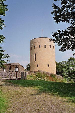 Hilchenbach - Ruins of the Ginsburg over Hilchenbach-Grund