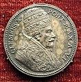 Giovanni hamerani, medaglia di clemente X, 1675, argento.JPG
