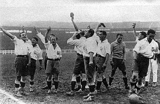 Club Nacional de Football - Nacional in Paris, during the 1925 tour on Europe.