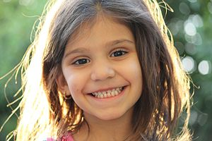 Smile - An Arab girl smiling