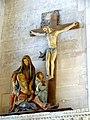 Gisors (27), collégiale St-Gervais-et-St-Protais, groupe sculpté - Vierge de douleur et deux femmes éplorées ; Christ en croix 1ère moitié XVIe siècle.jpg