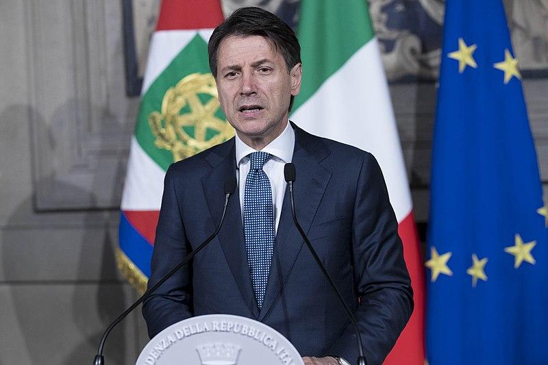 File:Giuseppe Conte nel corso delle dichiarazioni in occasione del conferimento dell'incarico - 23 maggio 2018.jpg
