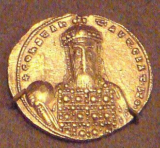 Constantine VII - Gold solidus of Constantine VII Porphyrogennetos, 913–959.