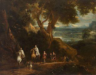 Landscape with Rudolf von Habsburg and the priest