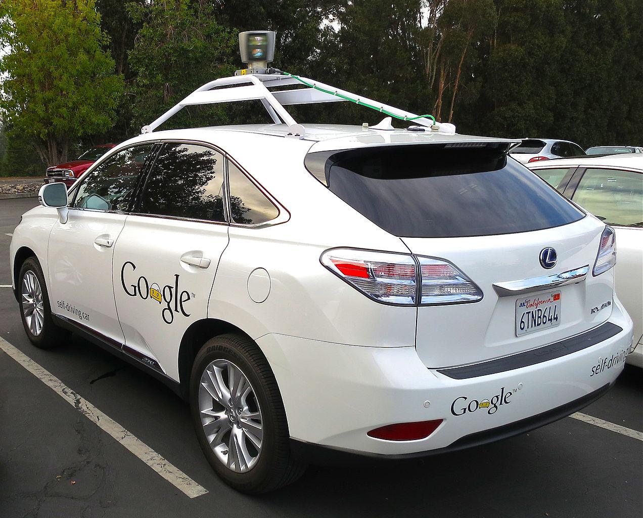 Google autonomous Lexus car
