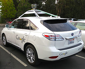 Waymo - A Lexus RX450h retrofitted by Google for its self-driving car project