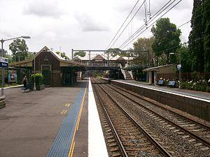 Gordon railway station, Sydney - Northbound view from Platform 2