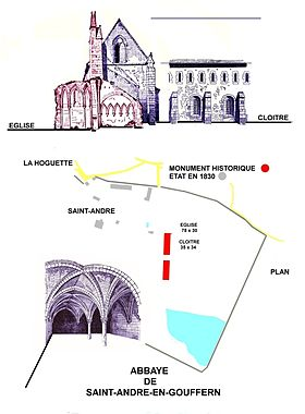 Image illustrative de l'article Abbaye de Saint-André-de-Gouffern