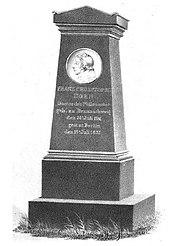 Das nicht erhaltene Grabdenkmal auf dem Dorotheenstädtisch-Friedrichswerderschen Friedhof (Quelle: Wikimedia)