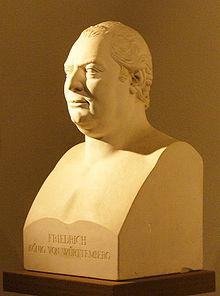 Büste Friedrichs in der Grabkapelle auf dem Württemberg (Quelle: Wikimedia)