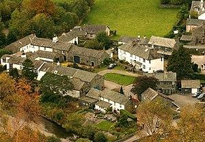 Grange in Borrowdale - Image: Grange taken from Grange Crags