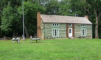Grant's Farm - Grant's log cabin in 2015