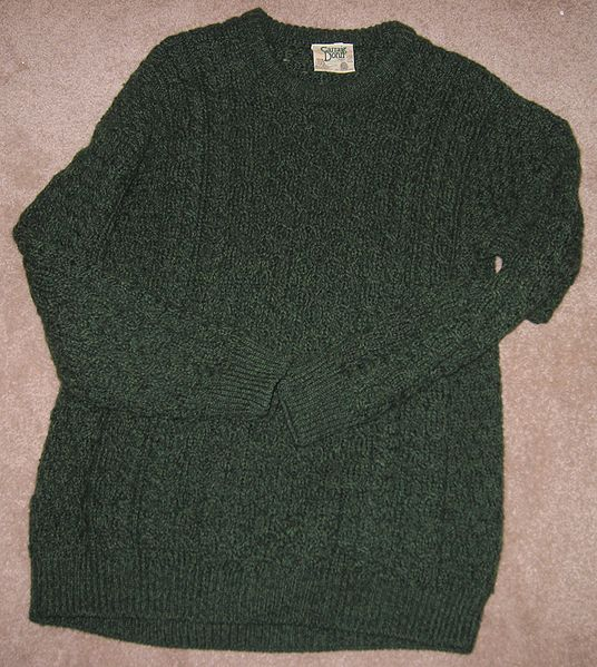 File:Green Aran Sweater.JPG