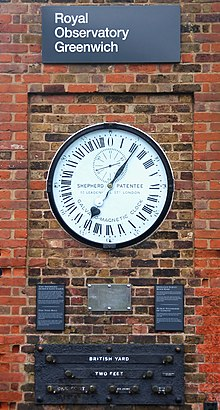 Greenwich Clock With Standard Measurements