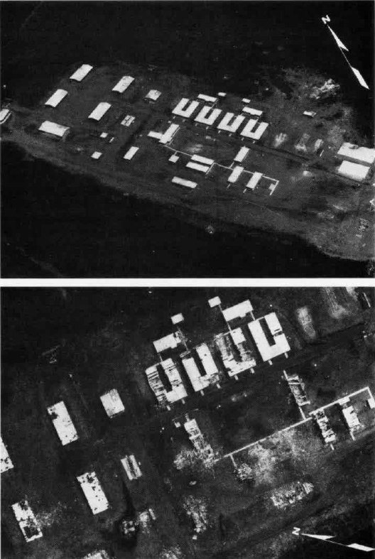 Grenada barracks before and after attack 1983