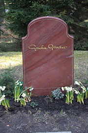 Gravestone of Greta Garbo