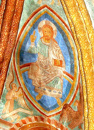 Church frescos in Denmark - Grønbæk: Romanesque frescos