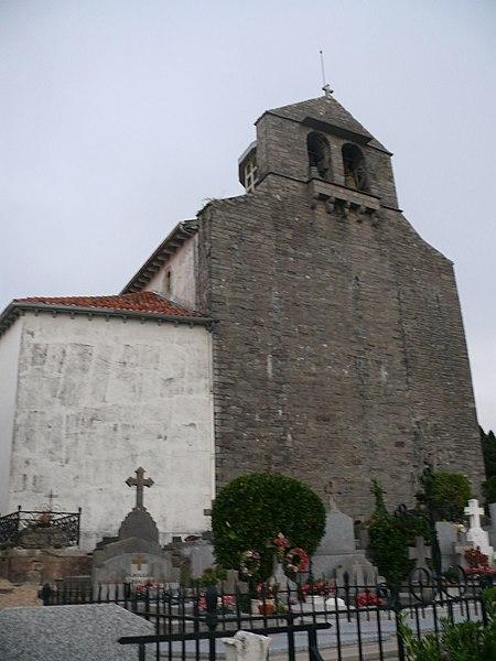 Saint-Nicolas' church of Guéthary (Pyrénées-Atlantiques, Aquitaine, France).