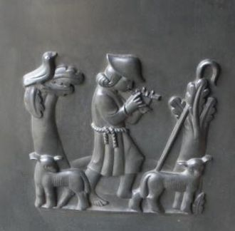 "Vernon Hill (sculptor) - ""Shepherding"", Guildford Cathedral"