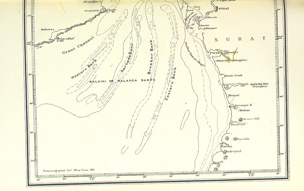 Gulf of Cambay (South part) 1896