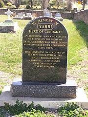 Gundagai cemetery Yarri monument