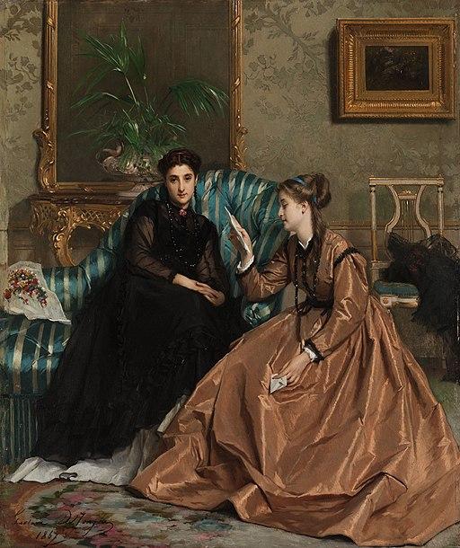 Gustave Léonard de Jonghe Der Liebesbrief 1867
