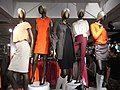 HK Central Queen's Road H&M Department Store clothing fashion figures night Aug-2012.JPG