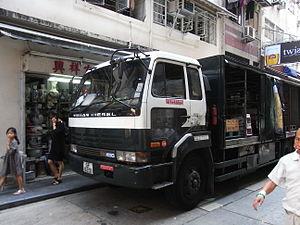 Truck driver - A Nissan Diesel trucker in Hong Kong