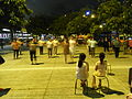 HK North Point Piers 北角碼頭 night 街坊 dancing visitors June-2012.JPG
