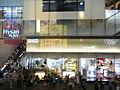 HK night Causeway Bay Hennessy Road 12-Aug-2012 Hysan Place bus stops visitors.JPG