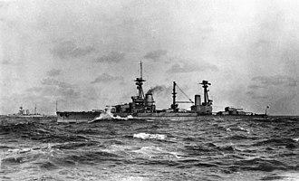 HMS Agincourt (1913) - Image: HMS Agincourt 1915